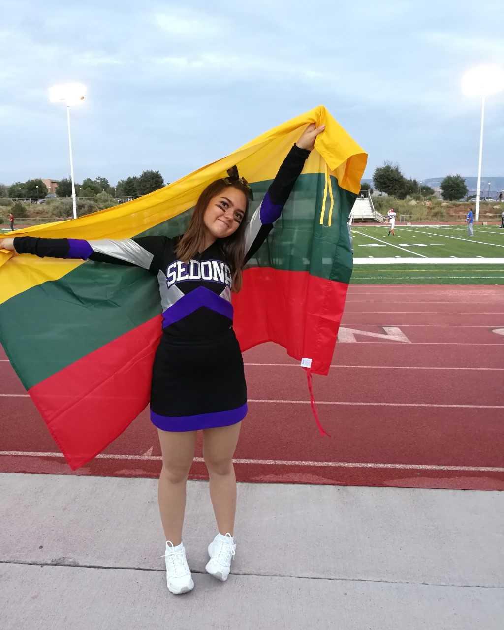 Lithuanian Exchange Student Cheerleader