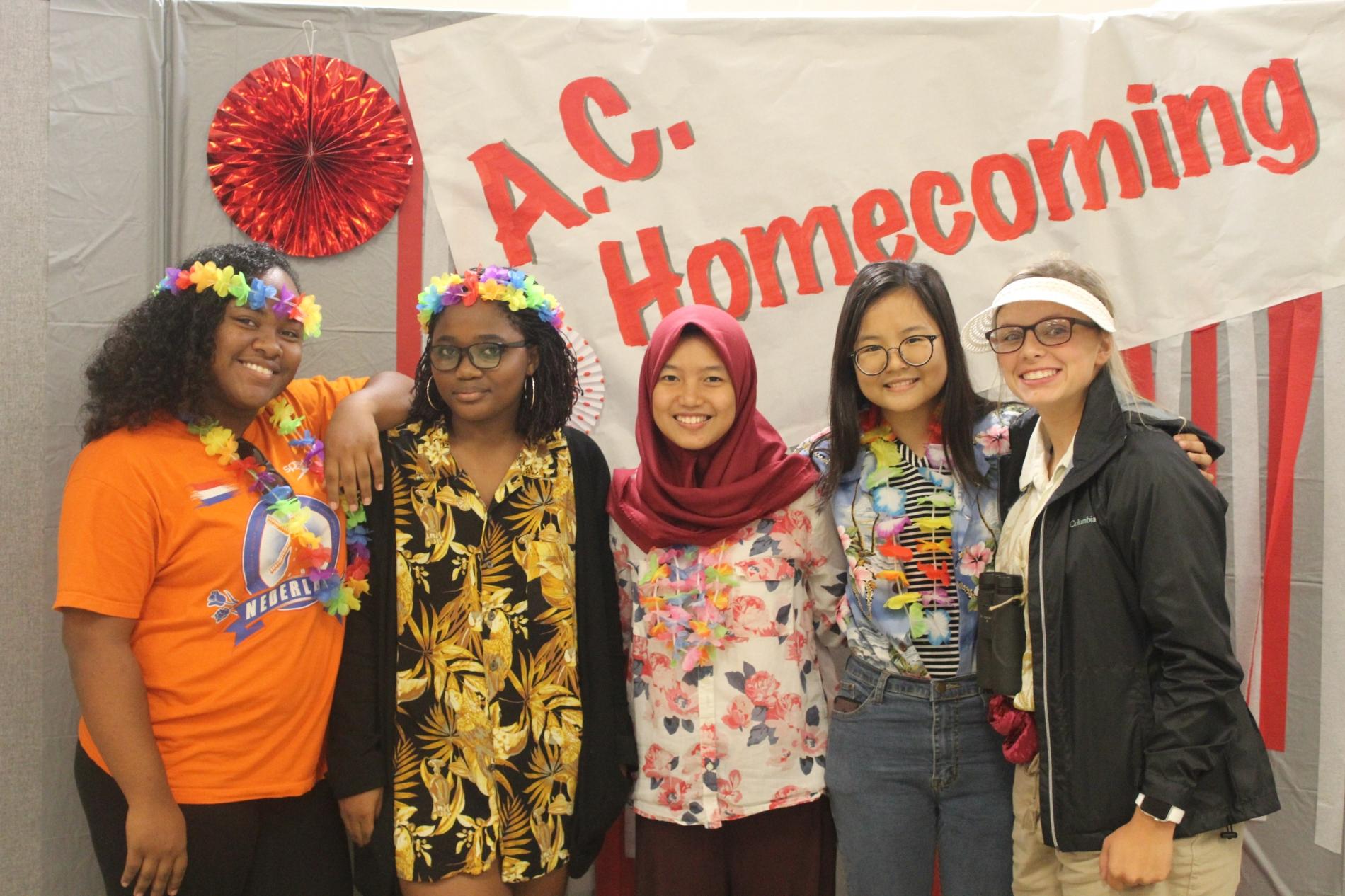 PAX Exchange Students During Spirit Week