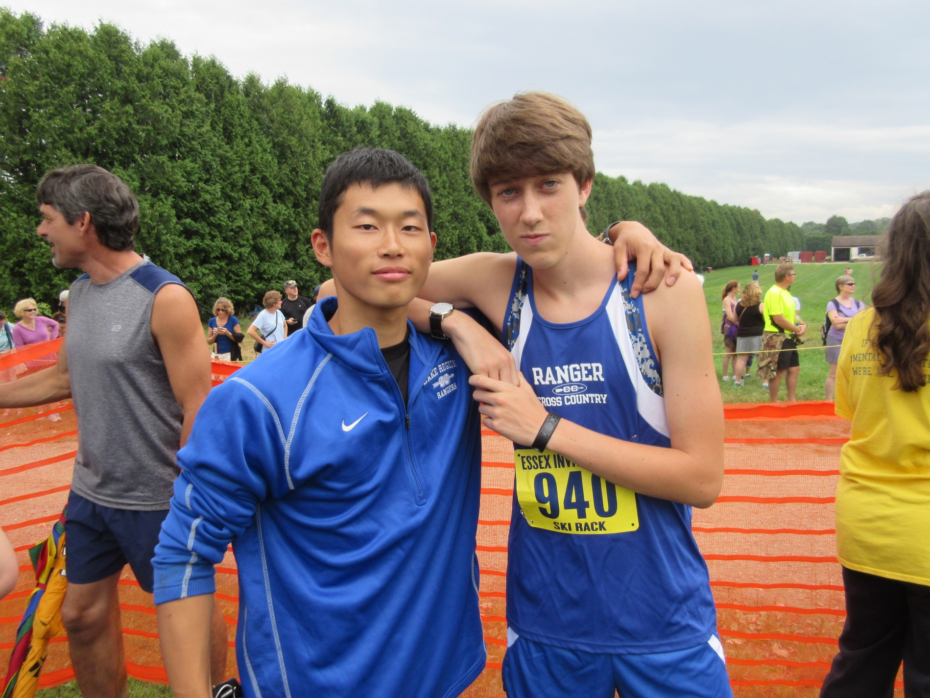 PAX Student from Japan with Cross Country Team Friend