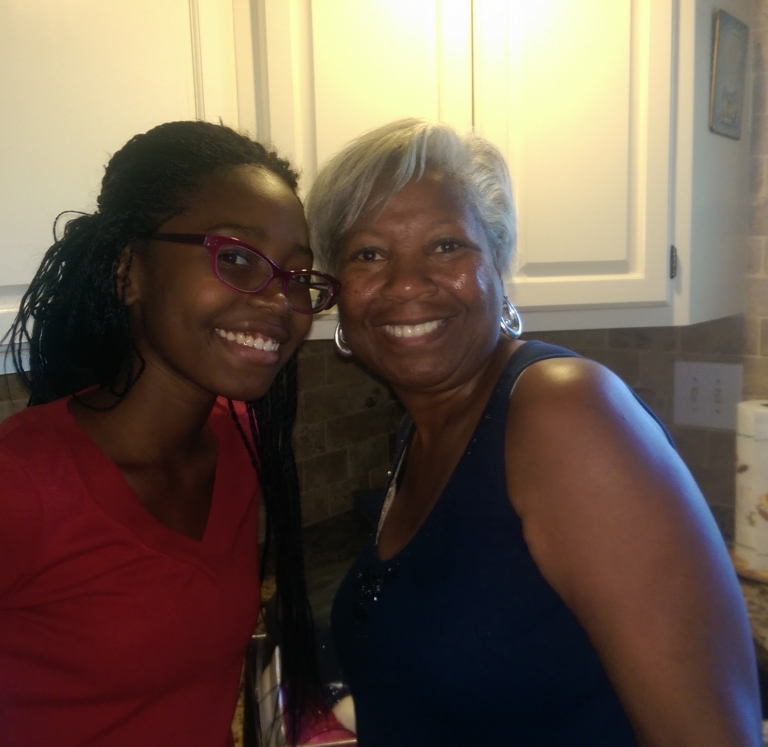 Cameroonian Exchange Student with Host Mom