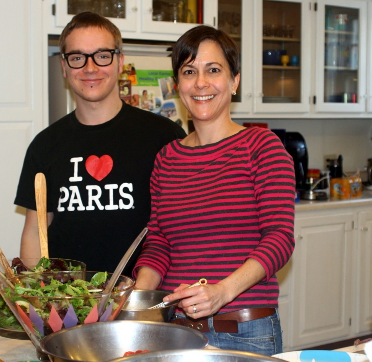 French Exchange Student Cooking with Host Mom