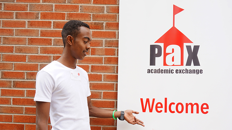 PAX exchange student from the Abaarso School in Somaliland on his first day in the United States