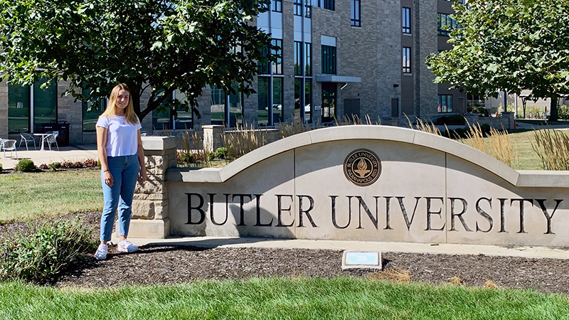 Female exchange student from Germany visits Butler University