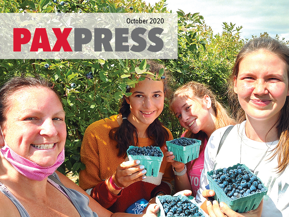 PAX Press Newspaper Web Cover October 2020 - Blueberry Picking