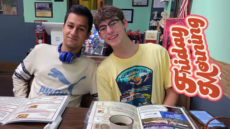 Turkish exchange student at a diner with American friend