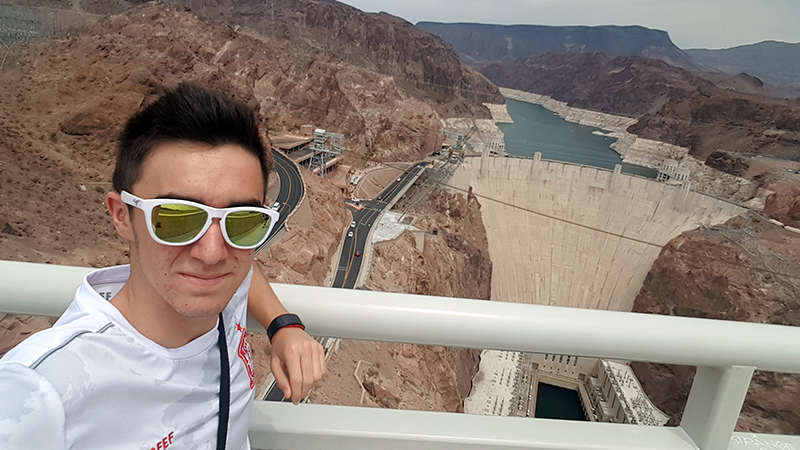 Spanish exchange student at the Hoover Dam