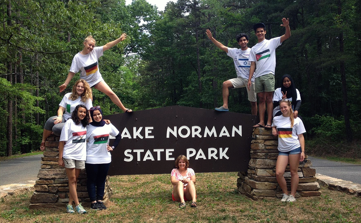 Exchange Student Enhancement Activity at Lake Norman State Park with PAX Community Coordinator